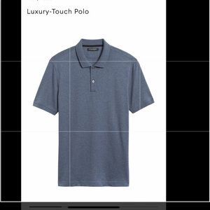 Men luxury-touch polo. NWT